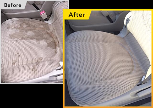 アルカリ電解水スチーム洗浄で、シートの中の汚れまで徹底洗浄